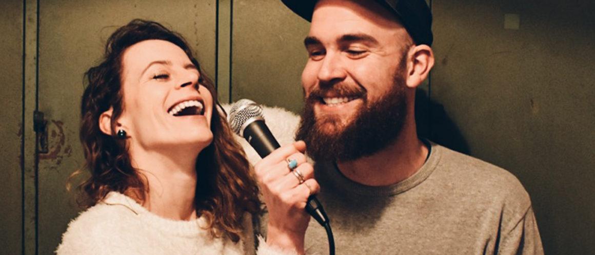 Raphael & Frauke am Mikro für das Podcast